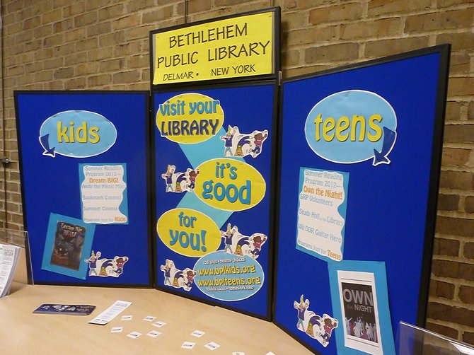 The New York State library system kicks off its summer reading initiative with a Capital District press conference featuring Bethlehem town and school officials at the Bethlehem Public Library on Thursday, May 10.