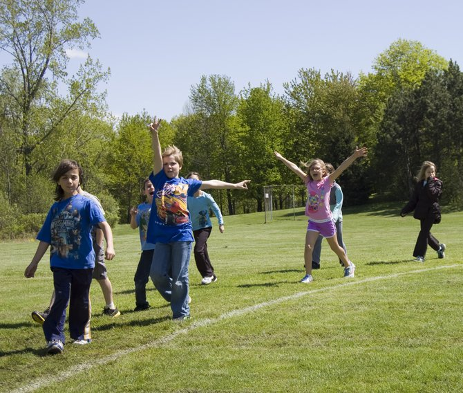 All four elementary schools in Scotia-Glenville Central School District on Friday, May 11, participated in the Juvenile Diabetes Research Foundation's Kids Walk to Cure Diabetes.