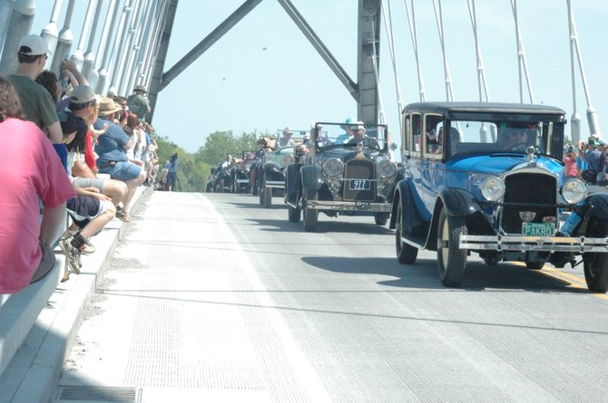 Classic cars were part of the Lake Champlain Bridge celebration parade May 19.