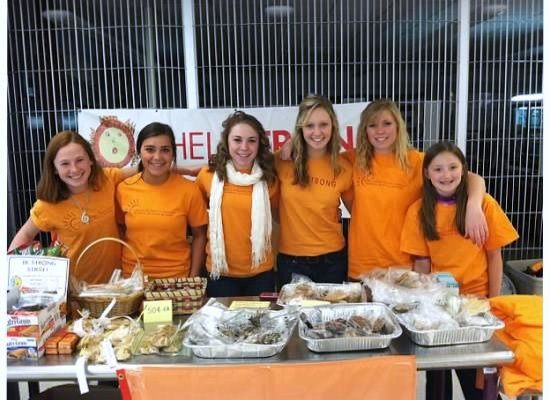 Shellstrong Foundation's Student Advisory Board holding one of many bake sales. Photo submitted.