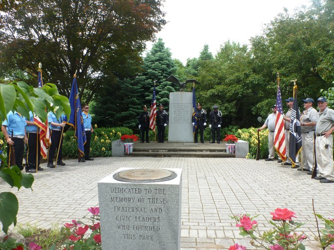 The 2012 Bethlehem Memorial Day services at the town's Veterans Memorial Part put on by the American Legion.