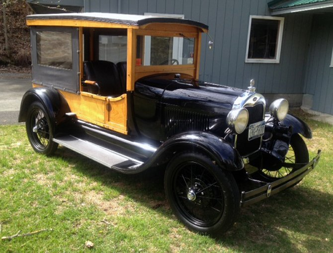 An antique 1928 Model A Ford, driven by George Jaques, will be one of the featured vehicles at the Raging Rivers Rally in Elizabethtown.