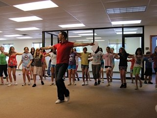 Campers taking part in a choreography class at Not So Common Kids Camp in Clifton Park. Photo Submitted.