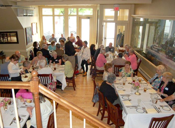 Members and volunteers of Community Resources for Independent Seniors enjoy the second annual luncheon honoring CRIS-CAT drivers on May 15 at the Lincklaen House in Cazenovia.