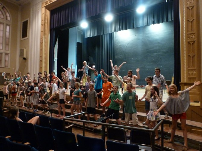 "Bethlehem Middle School students practice for ""Swing Night,"" an event to raise funds for the Mary Jane Hughes Memorial Scholarship, on Monday, June 11."