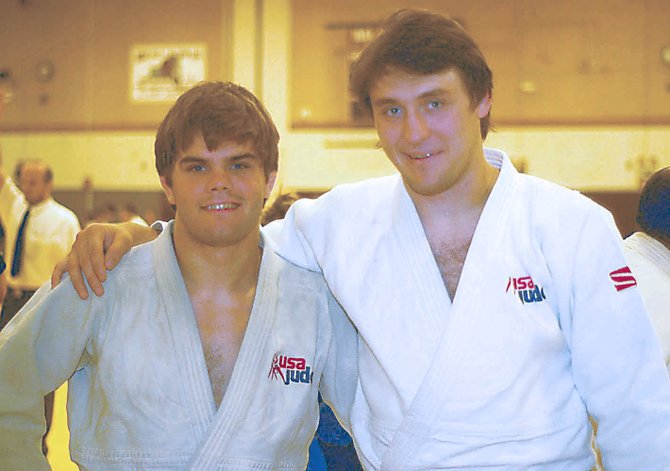 Jason Morris Judo Center team members Nick Delpopolo, left, and Kyle Vashkulat will be competing for the United States at next month's Olympics in London.