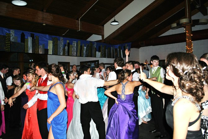 Dancing at the prom at Gore Mountain