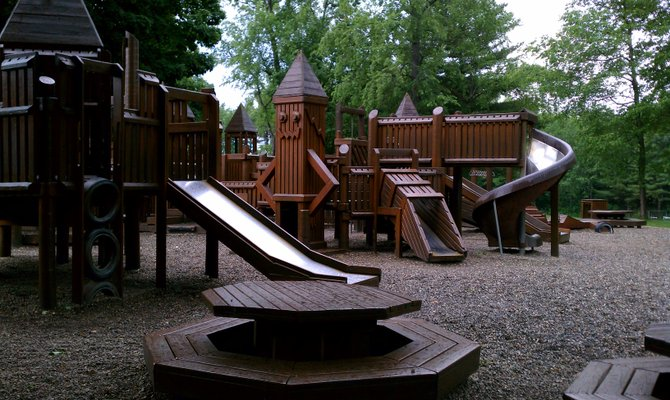The playground at Greenfield Elementary was state of the art and community built 25 years ago. Next June it will be replaced with the assistance of the community once more. Photo Submitted.