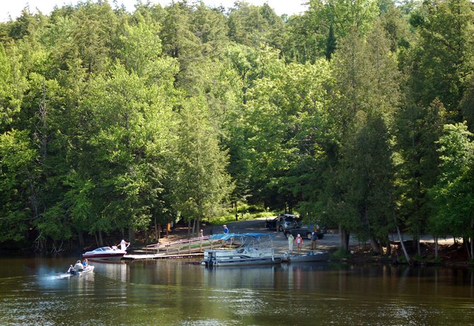 Second Pond boat launch, southwest of the village of Saranac Lake on Route 3