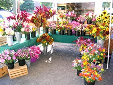 A wonderful display by Balet Flowers and Design, a vendor at Malta's new Farmers Market. Photo Submitted.