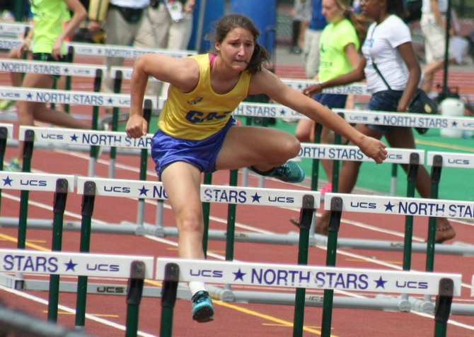 Paige Biviano ran the second fastest 100-meter hurdle time of her career (15.51, 775 points) to lead off her gold medal performance in the pentathlon at the New York State Championships. Biviano set a new school record with her winning total of 3,143 points.