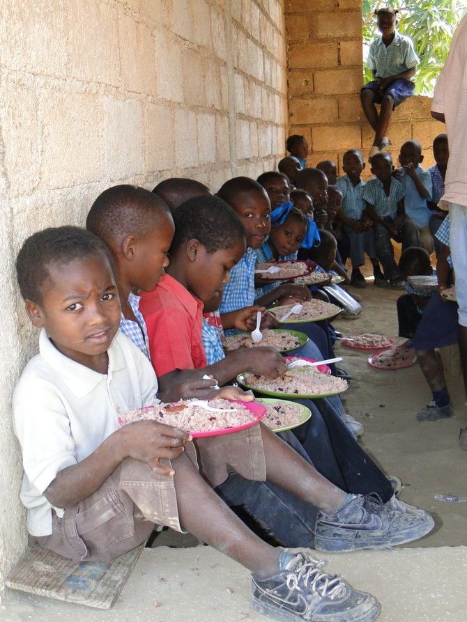 Haitian children are in the greatest need of help, To Love a Child helps get them some of the basics. Photo Submitted. 