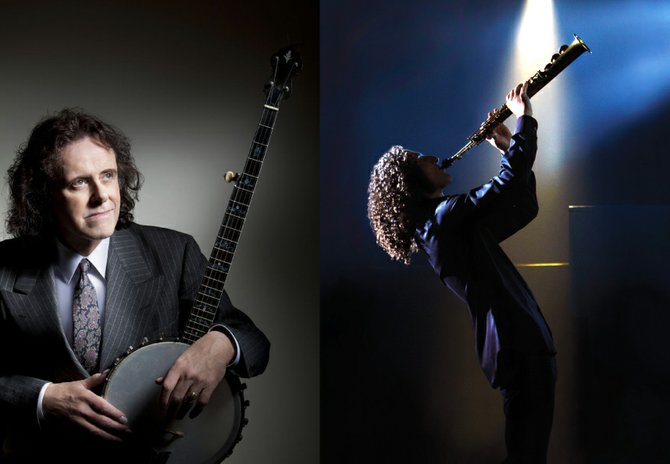 Kenny G (right) and Donovan (left) will headline the 30th annual Syracuse Jazz Festival, June 22 and 23, respectively, at Jamesville Beach.