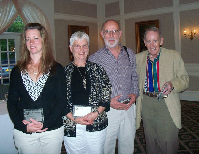 The Gore Mountain Region Chamber of Commerce's 2012 award winners were, from left, Sarah Williams, Elise and Woody Widlund, and Lyle Dye.