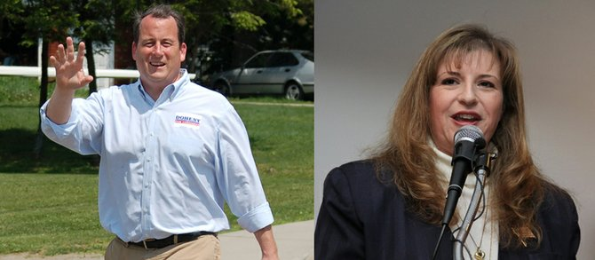 Matt Doheny and Kellie Greene are running against each other in the GOP primary June 26 for the 21st Congressional District seat, currently occupied by Rep. Bill Owens, D-Plattsburgh.