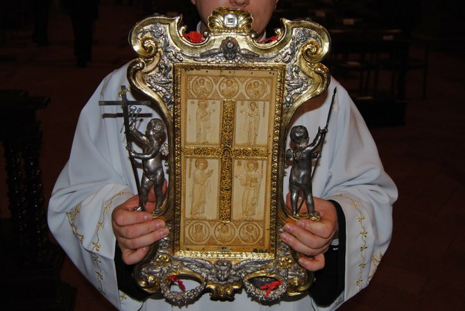 A relic of the so-called True Cross will be one of the artifacts on display at Christ the King Church in Rutland on June 26.