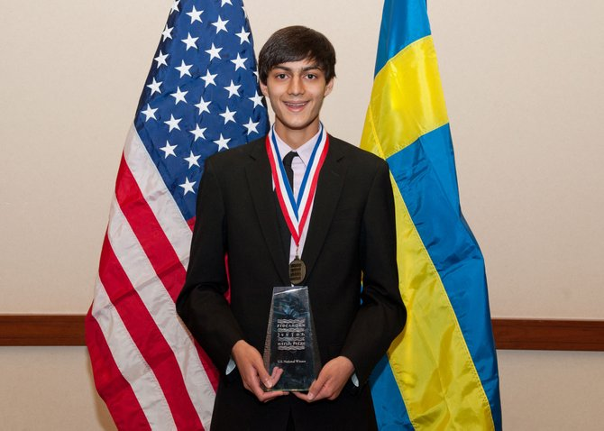 F-M's Kunal Sangani won the 2012 Stockholm Junior Water Prize for his project on hydraulic fracturing.