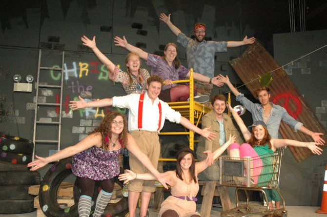 The cast of Godspell, performing at the Essex Theatre Company.