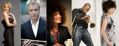 Some of the big names performing at this year's Jazz Fest at SPAC include Diana Krall, Chris Botti, Esperanza Spalding, Trombone Shorty and Hiromi. Submitted photo.