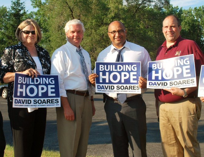 Soares has been holding campaign rallies around Albany County.
