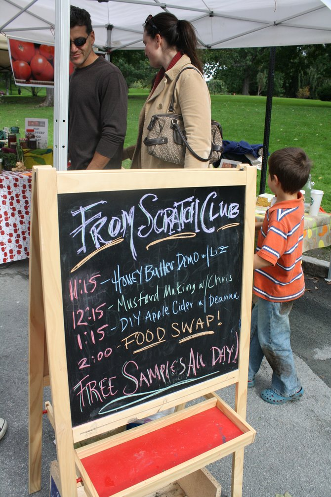 The From Scratch Club is a regular presence at local farmers markets. Submitted photo. 