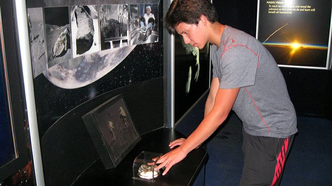 Visitors to the Schenectady Museum on Thursday and Friday, July 12 and 13, can touch a moon rock.