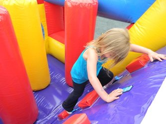 BubKat Bounce! opened its (bounce house) doors in early June. Greg Hays and his partners wanted to find a unique and kid-friendly business plan. Submitted photo. 