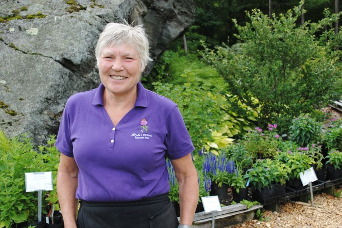 Marijke Niles of Starksboro is the creative talent behind her sprawling plant nursery business, Marijke's Perennial Gardens Plus.