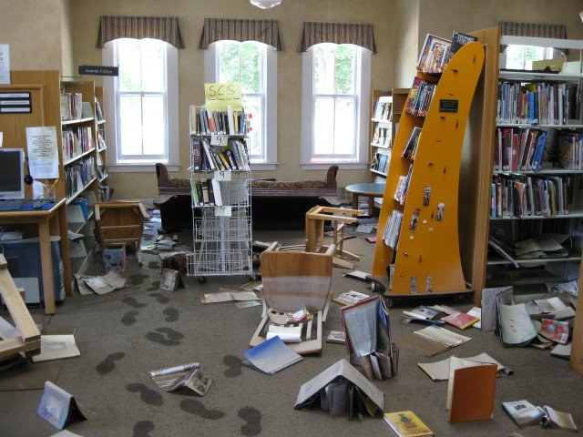 The William K. Sanford Library in Colonie is holding a read-a-thon on Friday, July 13, from 9 a.m. to 9 p.m. to raise money, books and awareness for the Schoharie Library, which lost more than 5,000 volumes from flooding.