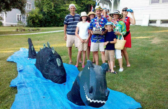 The Decker family were the first winners of the Westport Independence Day Best of Show trophy. The award was inspired in part by their annual themed entries in the parade.