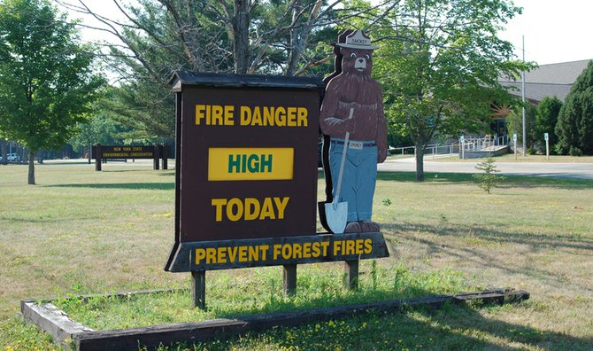 Officials from the NYSDEC Region 5 Headquarters here in Ray Brook issued a high fire danger warning for the Adirondacks on Thursday, July 12.