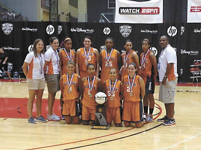 The Saratoga Sparks 16-and-under girls basketball team placed second at the AAU National Championships following Sunday's 53-46 loss to the LA Angels of Louisiana in the finals.