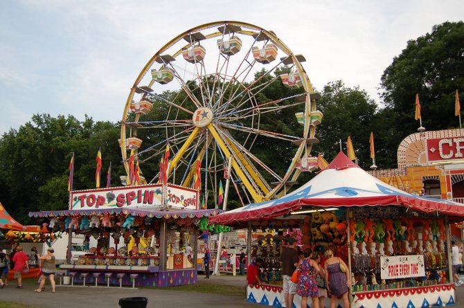 The Saratoga County Fair is celebrating its 171st year, and has much to offer fairgoers. Everything from food and music to animal exhibits and dairy demonstrations will take place over the weeklong event at the fairgrounds in Ballston Spa — even sharks will make an appearance this year. Submitted photo.