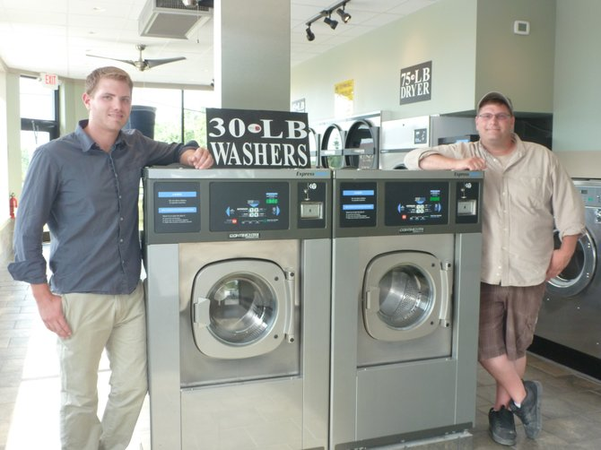 Universal Laundromat co-owners Aaron and Wayne Flach use state-of-the-art equipment at their facilities, which include the most recent acquisition in Behlehem.
