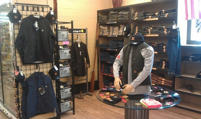 Carhartt workmans apparel is now available in four of the Phillips Hardware stores.