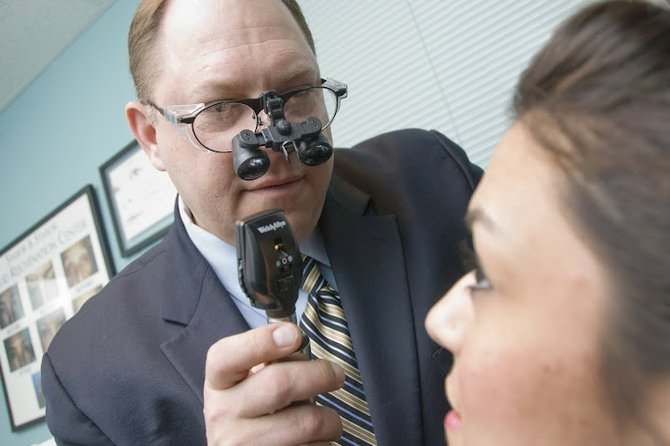 Dr. George Stasior says his philosophy is to involve patients in their eye care through communication and by encouraging preventative measures to stave off future vision problems.