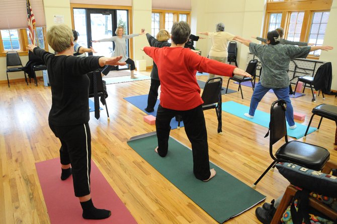 Seniors get moving at the Saratoga Adult and Senior Center on Henry Street. Yoga and ceramics are just a couple of activities at the center that promote mobility, creativity and socializing. Submitted photo.