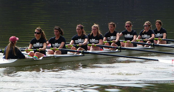 Niskayuna Rowing members are shown competing at the 2012 New York State Scholastic Rowing Association Section 2 Regatta in May. The club and town are pursuing a grant to study the feasibility of a new boathouse and public use building.