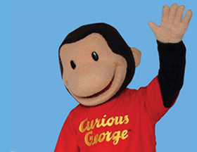 Curious George will drop in for a story at the Kiddie Academy's Storytime LIVE! event Saturday, Aug. 4.