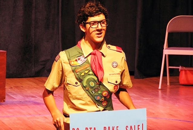 Sam Balzac during his performance in Spelling Bee at the Depot Theater.