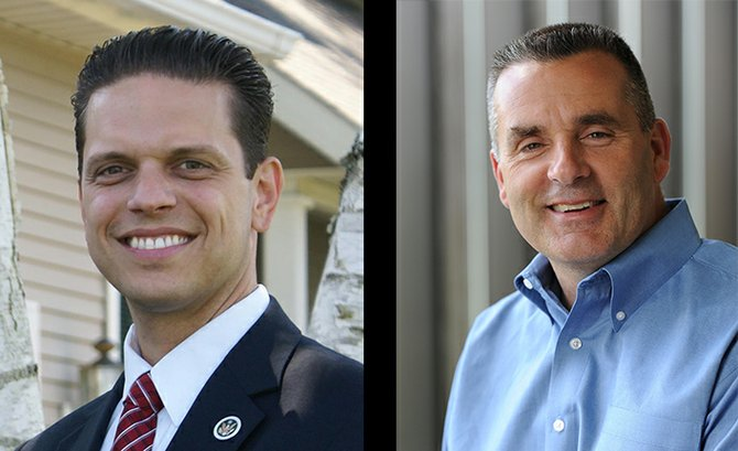 New York State 111th Assembly District candidates Angelo Santabarbara (D-Rotterdam), left, and Thomas Quackenbush (R-Fort Plain).