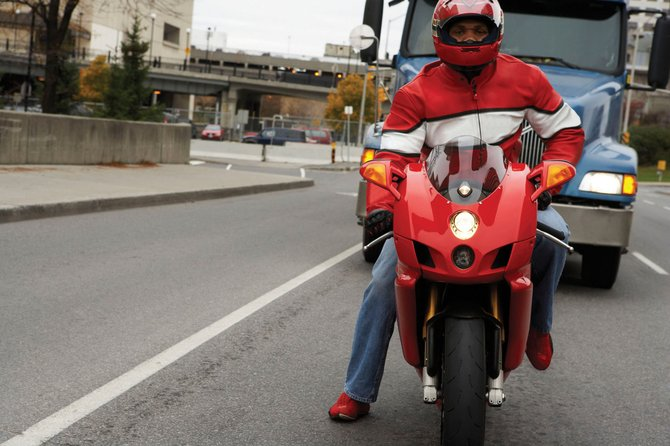 One way car and truck drivers can be safe around motorcycles is to simply exercise more caution and never tailgate a motorcycle. Submitted photo. 