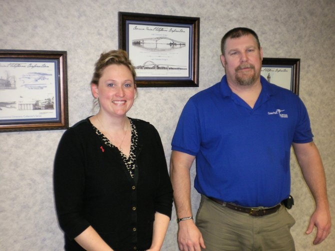 Shana Macey, Crown Point Telephone president, and Tony Macey, Crown Point Telephone vice president of operations, are frustrated by failure to complete issues experienced by some customers. The problem lies with long distance service providers, not Crown Point Telephone.