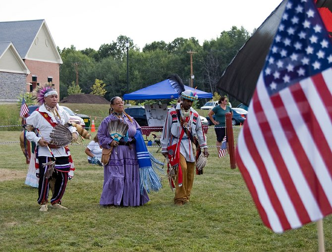 The Keepers of the Circle's annual pow wow event on Saturday, July 21, had attendees performing traditional Native American dances around a fire as a steady drum beat carried the performance.
