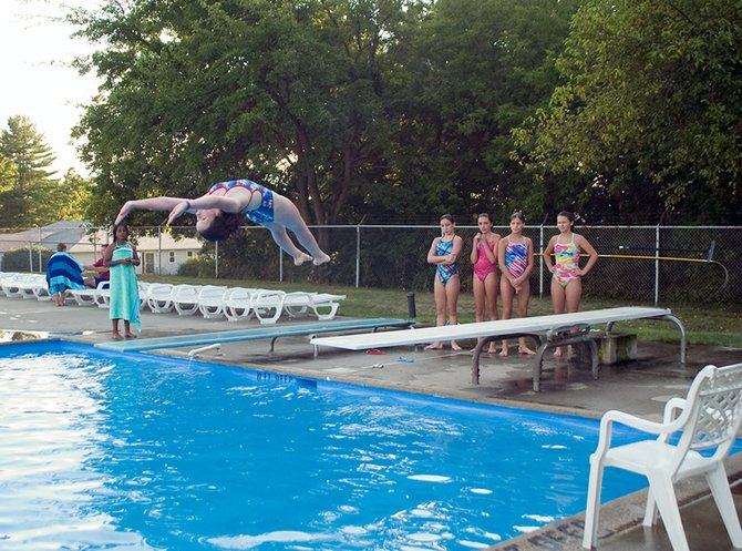 The Niskayuna Wild Turkeys Swim and Dive Team held its annual Swim and Dive-a-Thon on Friday, July 27, at the Niskayuna Town Pool.