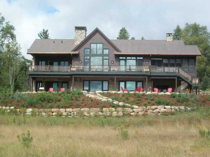 Platinum LEED Certified home of Larry and Nancy Master in Lake Placid.