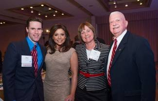 Mountain Lake PBS award winners pictured with NYSBA Awards special guest. From left: Paul Larson, Rachael Ray, Jane Owens, Stan Ransom