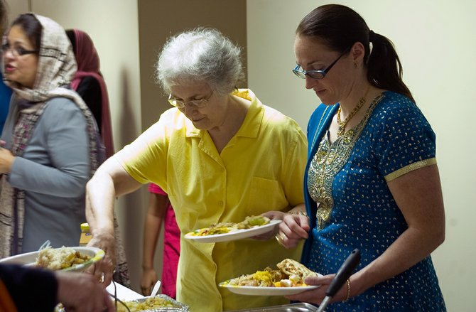 Women from several faiths joined together on Friday, Aug. 3, and fasted together to show support during the month of Ramadan.