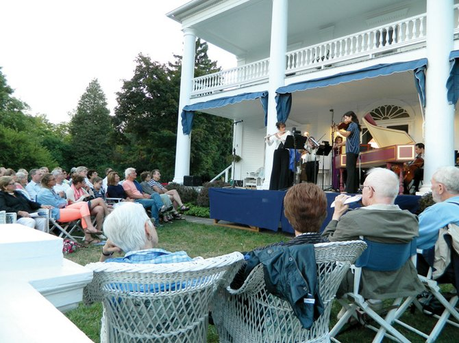More than 500 people attended the first of five concerts at Brook Farm as part of this year's Skaneateles Festival.