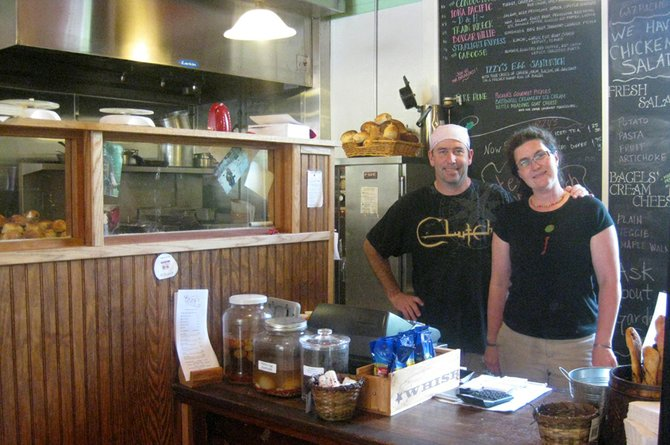 Dave and Kathy Waite, owners of Izzy's Market and Deli on Main Street in North Creek